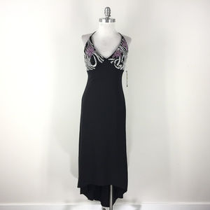 New JS Boutique Xs 2 4 Black Formal Dress high low